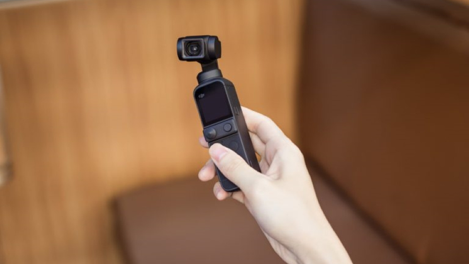 The DJI Pocket 2 is small and captures impressive video with the built in camera