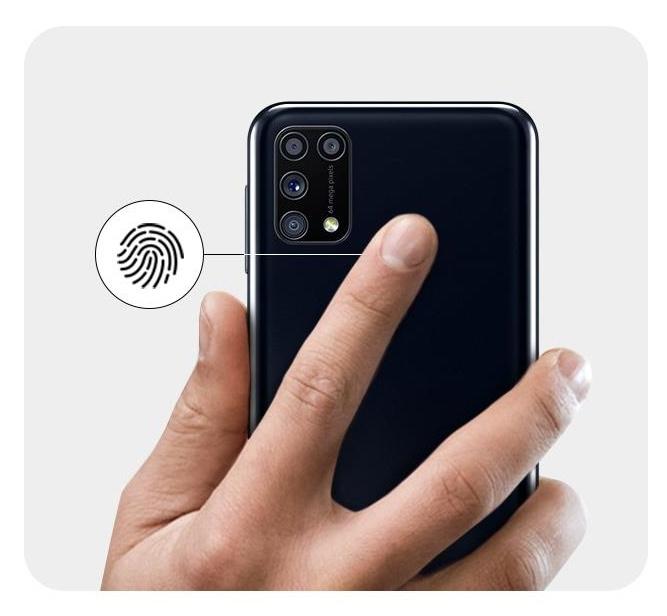 Picture of M31 fingerprint sensor