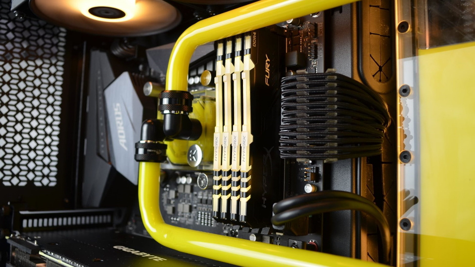 Picture of GGPC custom build set to yellow