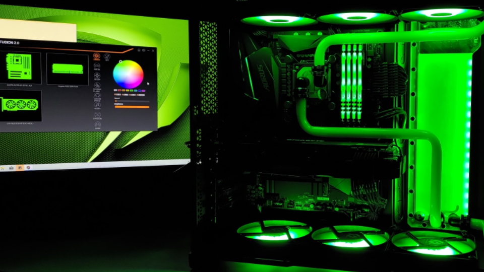 Picture of GGPC custom build set to green