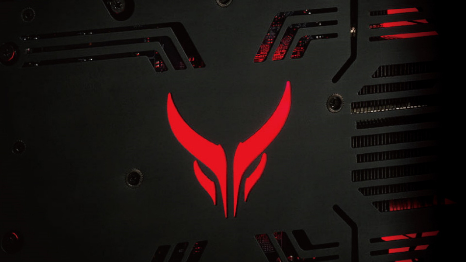 PowerColor Red Devil RX 6800 LED lighting on top