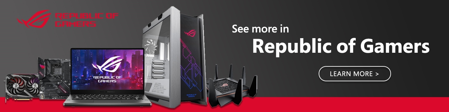 Picture of ASUS ROG Republic of Gamers products at PB Tech