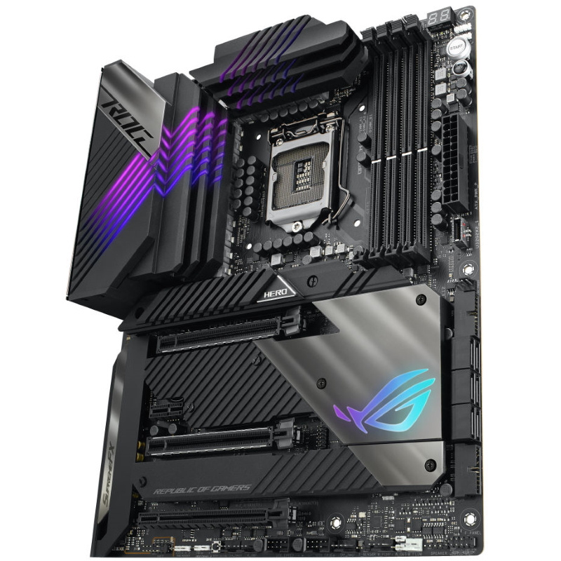 Picture of Z590 Asus HERO motherboard at PB Tech NZ