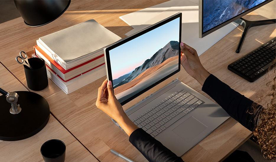 The Microsoft Surface Book 3