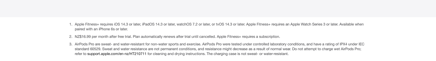 Apple Fitness Terms & Conditions
