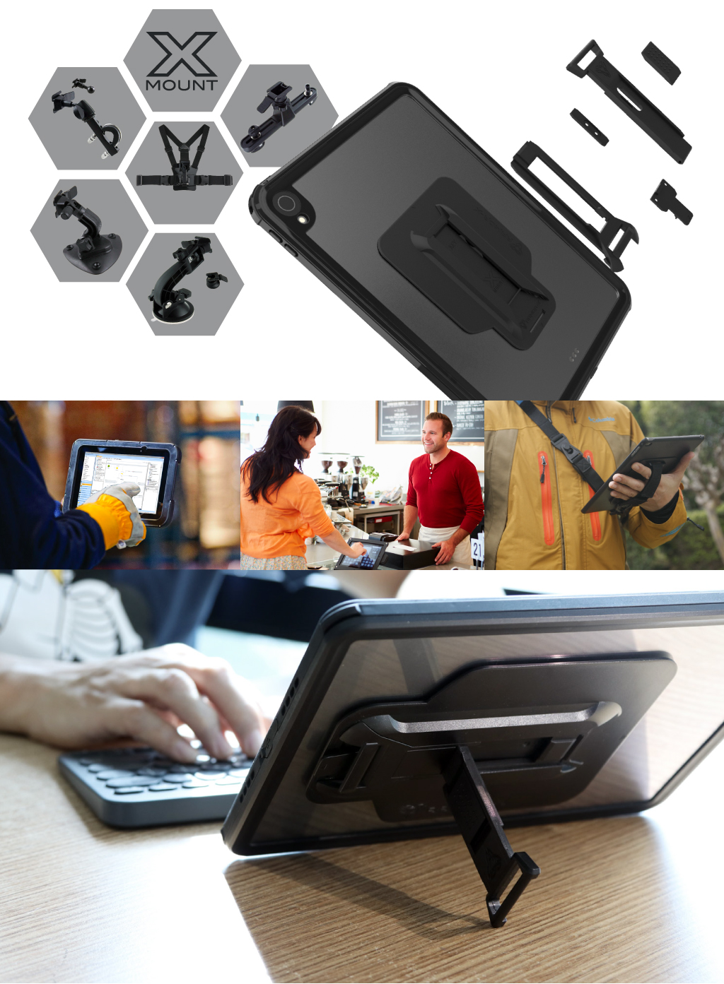 ARMOR-X iPad air 4 2020 case with kick stand. Hand free typing, drawing, netflux video watching