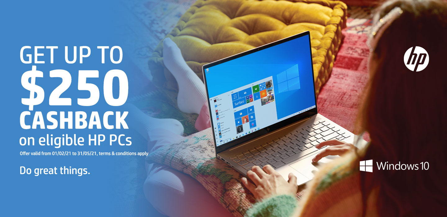 Get up to $250 Cashback on eligible HP PCs