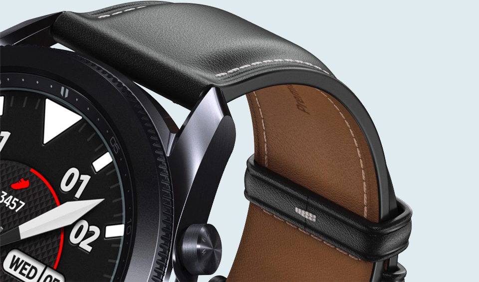 Premium quality, down to the genuine leather strap.