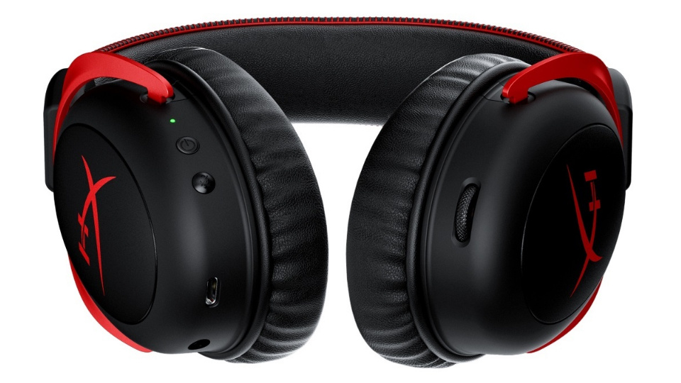 Picture of HyperX Cloud II Wireless Gaming Headset underside buttons for mute, power and volume
