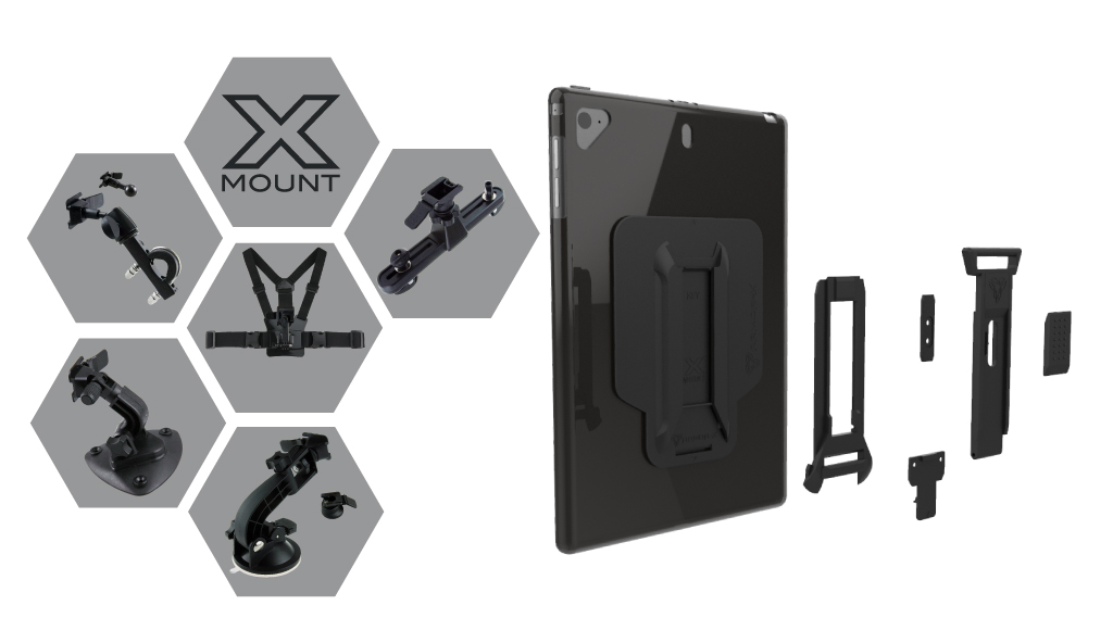 Armor X Lenovo Tab M10 FHD Plus (TB-X606F) 4 in 1 mountable shockproof case with handstrap and built-in kickstand