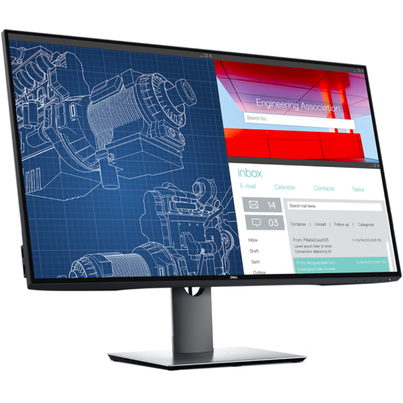Using USB-C to plug a laptop into the monitor
