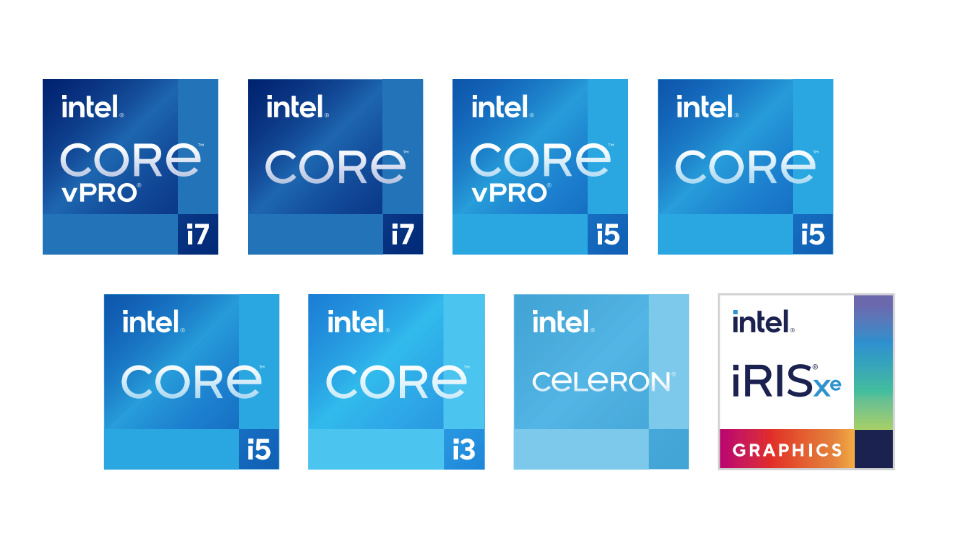 11th Gen CPU logos for the 2021 NUC Elements range