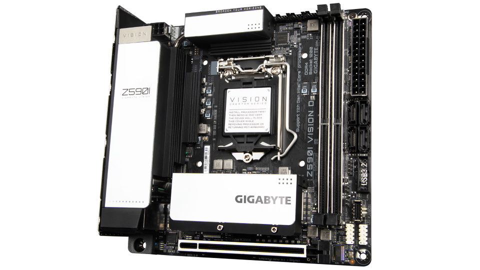 Picture of Gigabyte VISION Z590i ITX motherboard full front
