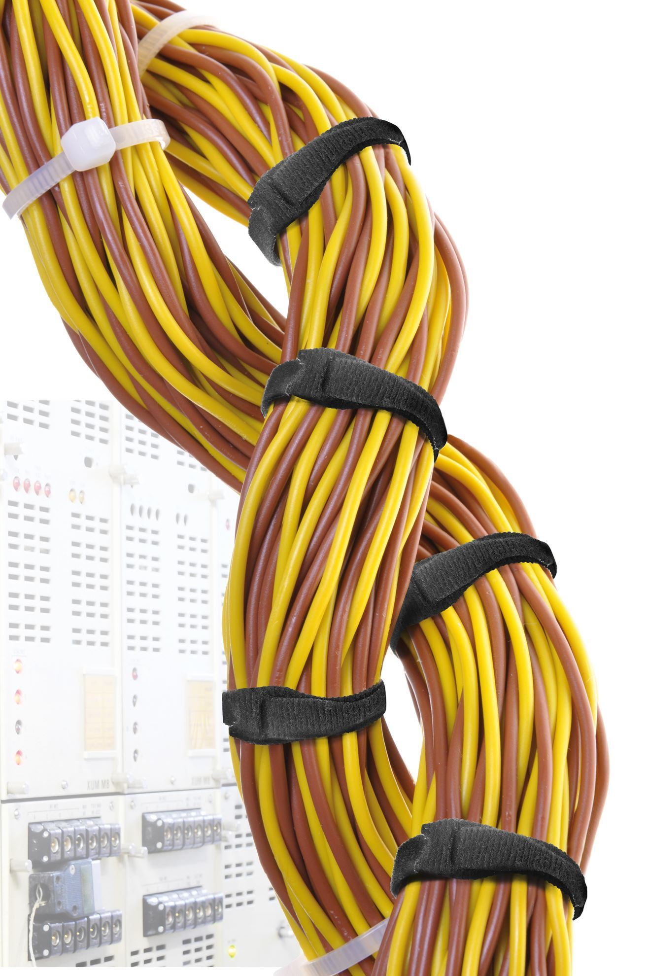Picture of VELCRO ONE-WRAP 12.5mm Continuous 22.8m Fire Retardant Cable Roll.