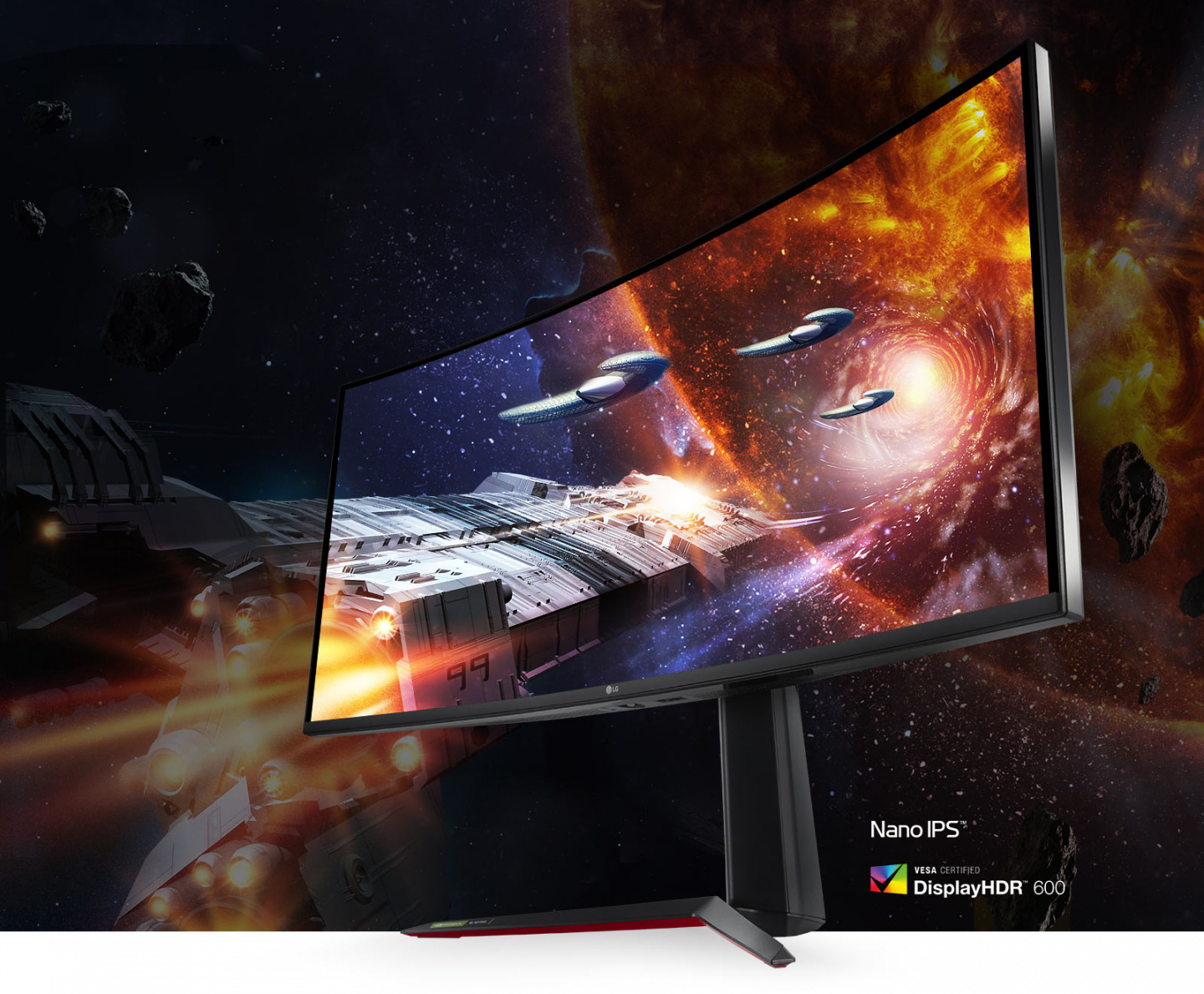 Monitor 38GN950 supporting Nano IPS, and HDR 600