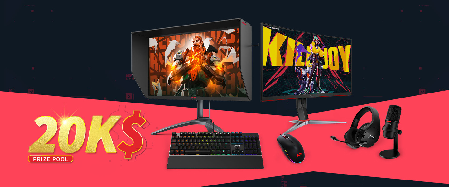 There are heaps of awesome AOC prizes up for grabs!