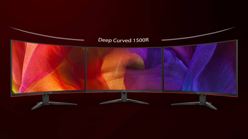 The curve of this screen mimics the curvature of the eye, drawing you in for a deeper, more immersive experience, that also will enhance your ability.