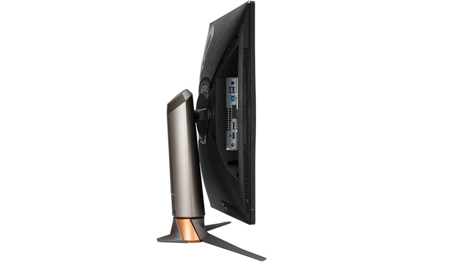 Picture of Asus ROG Swift 360Hz PG259QNR gaming monitor swivel to easy access cables