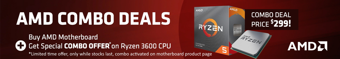 Picture of AMD Ryzen 3600 $299 +Motherboard Combo Offer at PB Tech