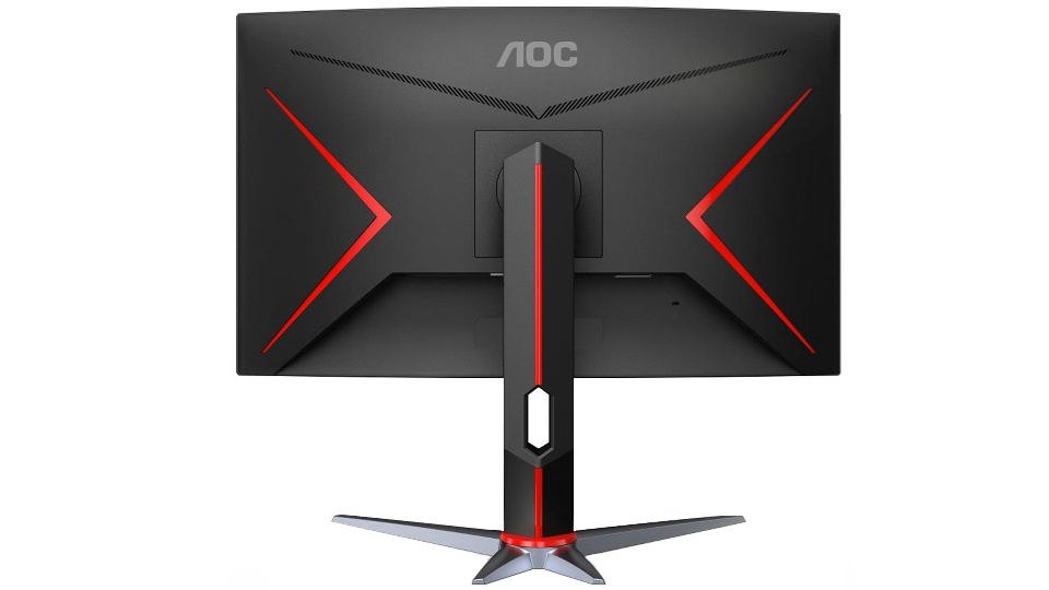 Picture of AOC 155Hz Q27G2S gaming monitor back with red trims