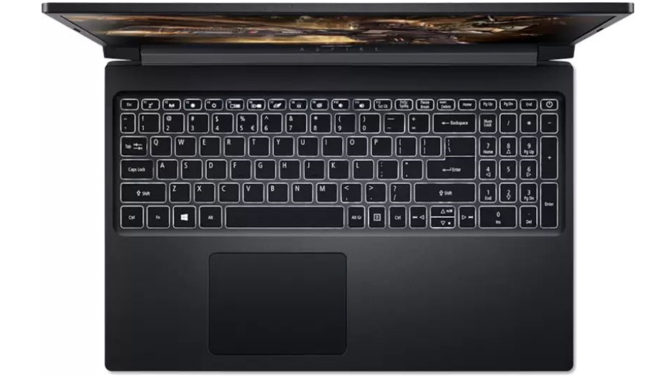 Picture of Acer Aspire 7 Gaming Laptop keyboard
