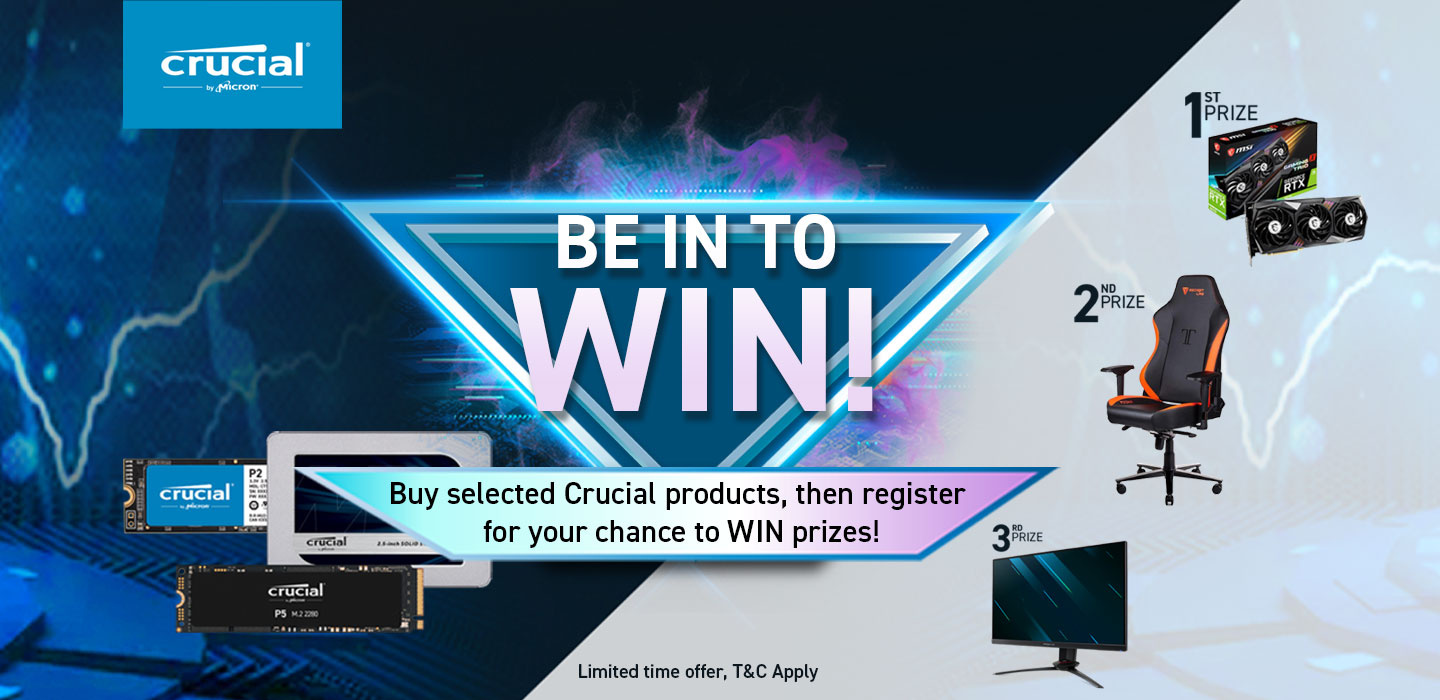 Be in to WIN with Crucial Memory