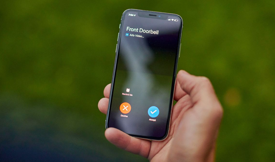 Receive a video call to your phone when someone rings the doorbell.