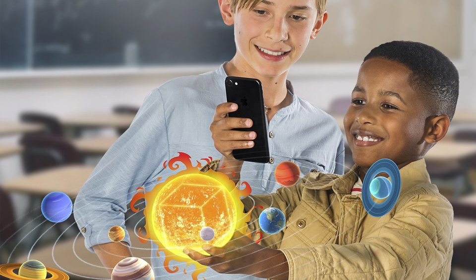 The MERGE Cube allows kids to hold digital 3D objects.