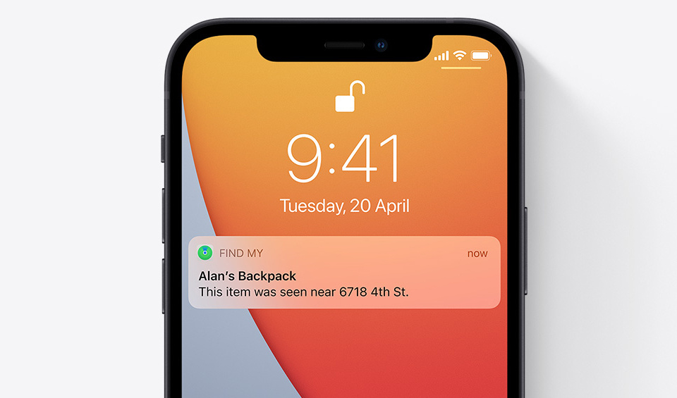 It utilizes Apple's Find My network to find lost items.