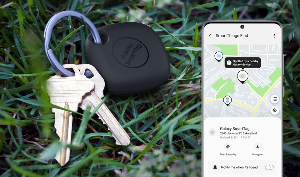 The SmartThings Find network helps locate the SmartTag even when it's out of range.