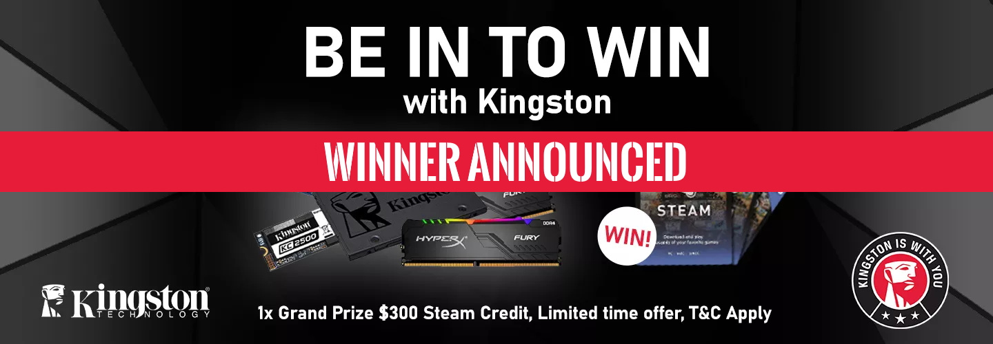 Picture of Kingston Promotion Winner at PB Tech
