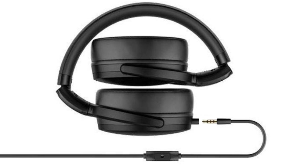 Picture of folded HD400S headphones with detachable cable