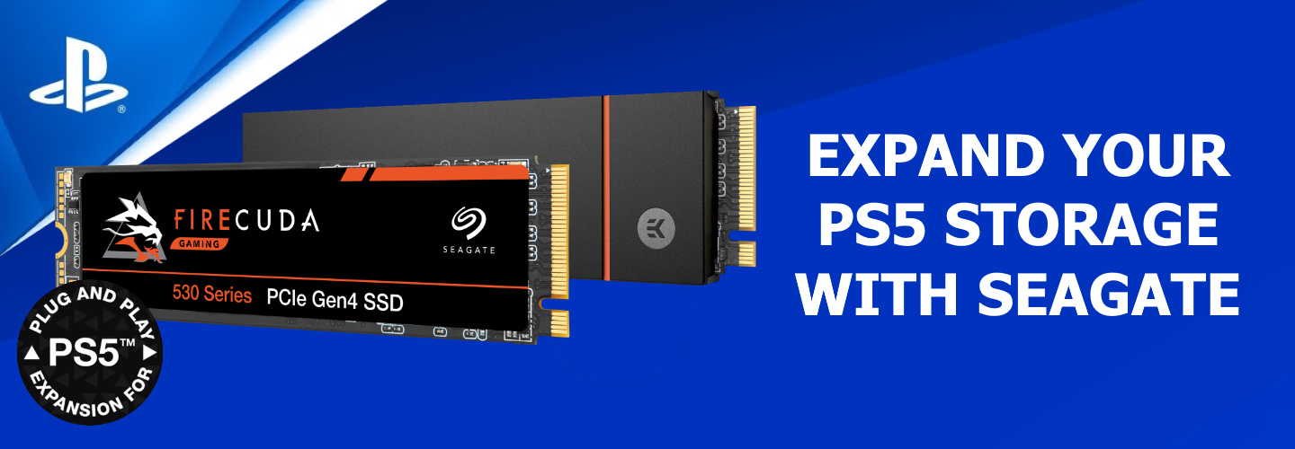 Picture of Seagate Gaming Firecuda SSD with EK Headsink for PS5 Upgrades