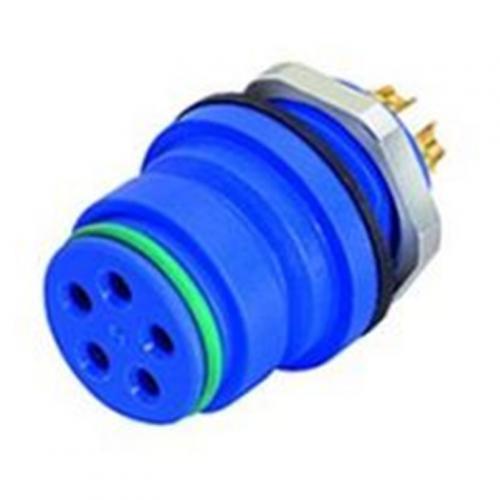 Binder-Series-720-Panel-Mount-Connector-Female-7A-250V-Blue