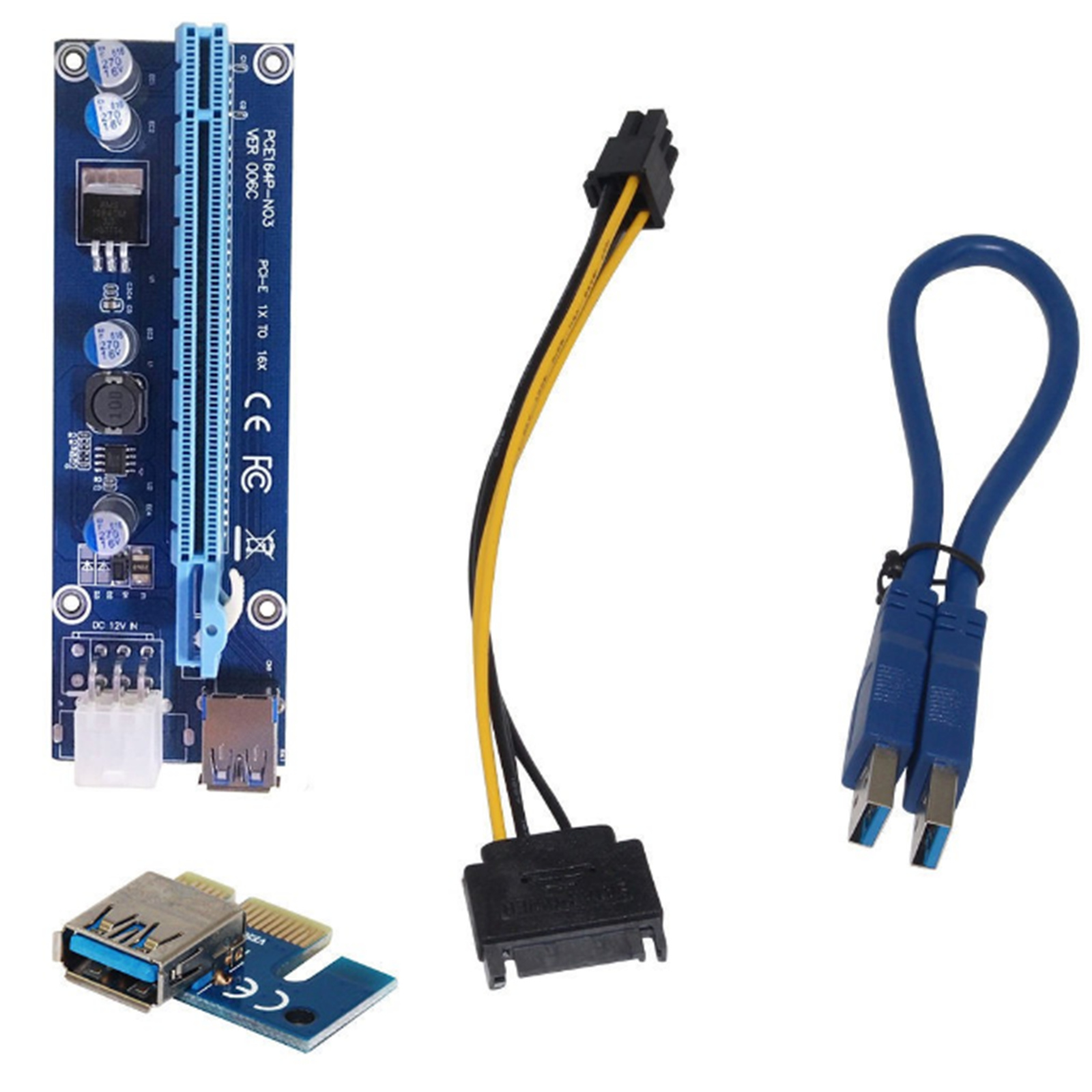 Buy The P Pce164p N03 Usb 30 Pci E Express 1x To16x Gpu Extender Orico 7 Port Card Riser Adapter Power Cable