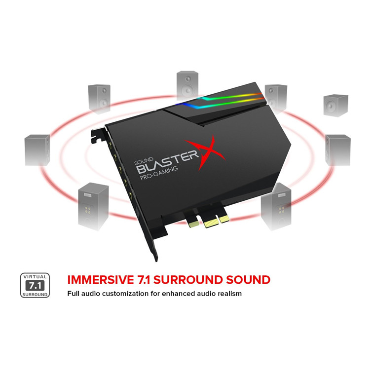 Buy the Creative Sound Blaster X AE-5 PCIe Gaming Sound Card, DISCRETE    (  70SB174000000 ) online