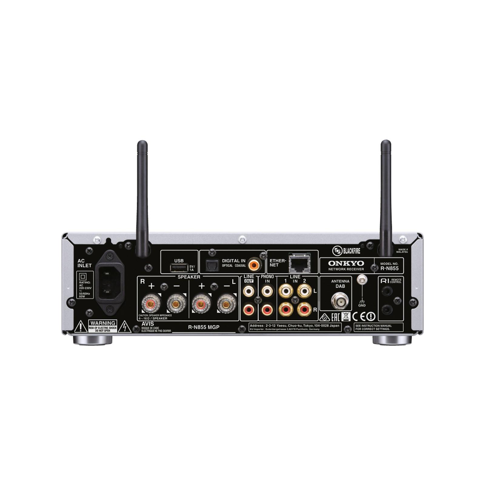 Buy the Onkyo R-N855 Stereo Network Receiver - Hi-Res Audio via