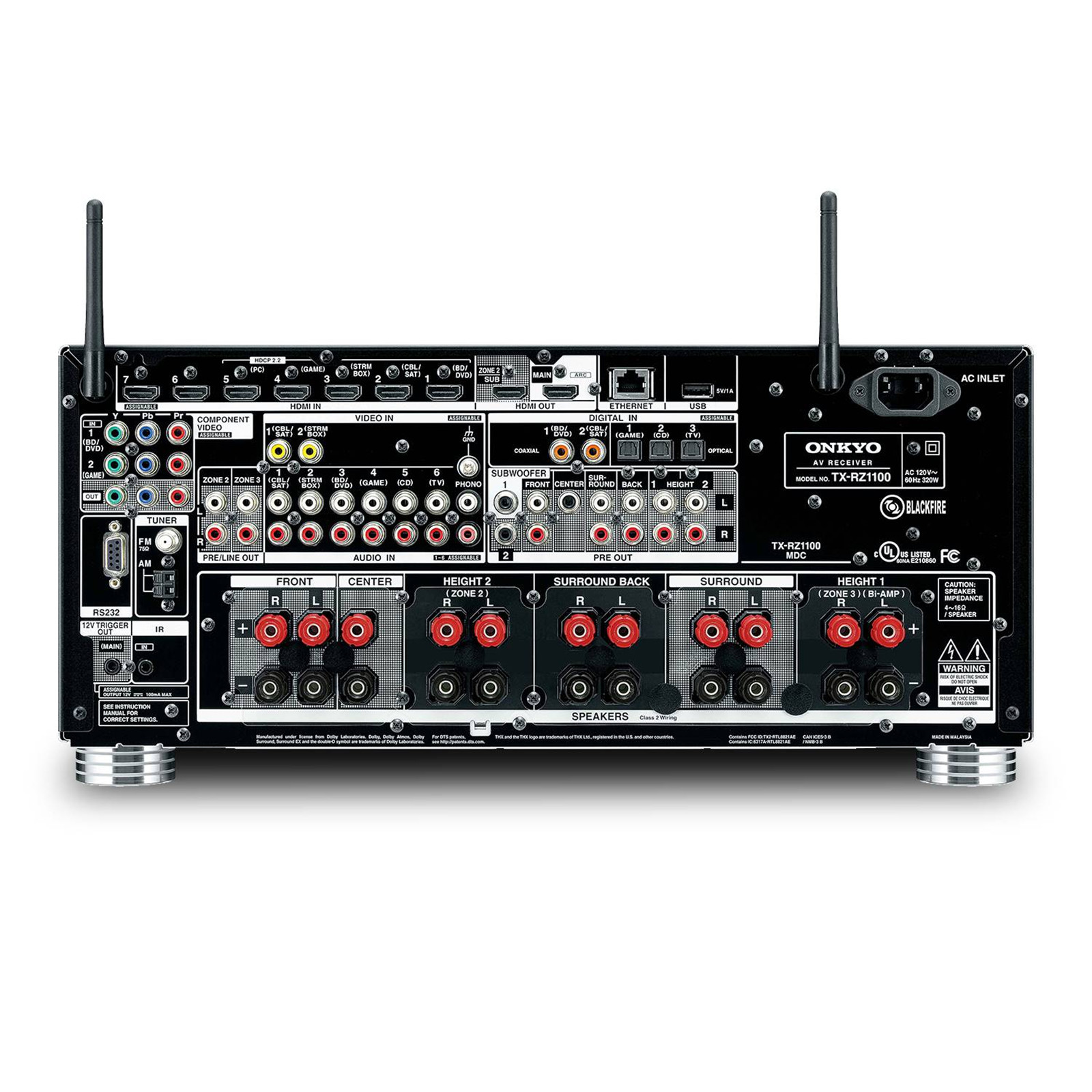 Buy the Onkyo TX-RZ1100 9 2 Channel AV Receiver 3 Zone - DTS