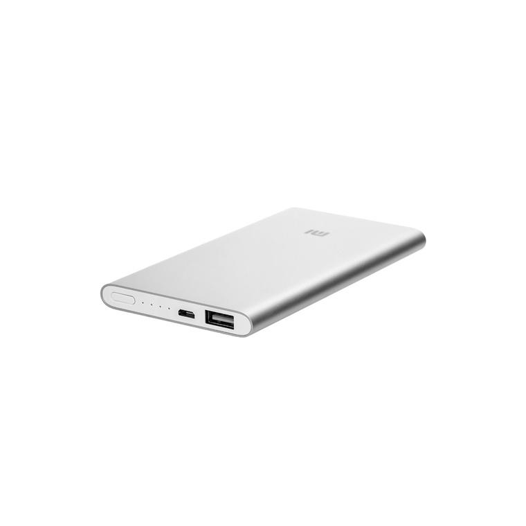 Xiaomi Mi 5000mAh Power Bank 2 Silver, 10.7mm thickness, world-class chipset protection, beautiful.