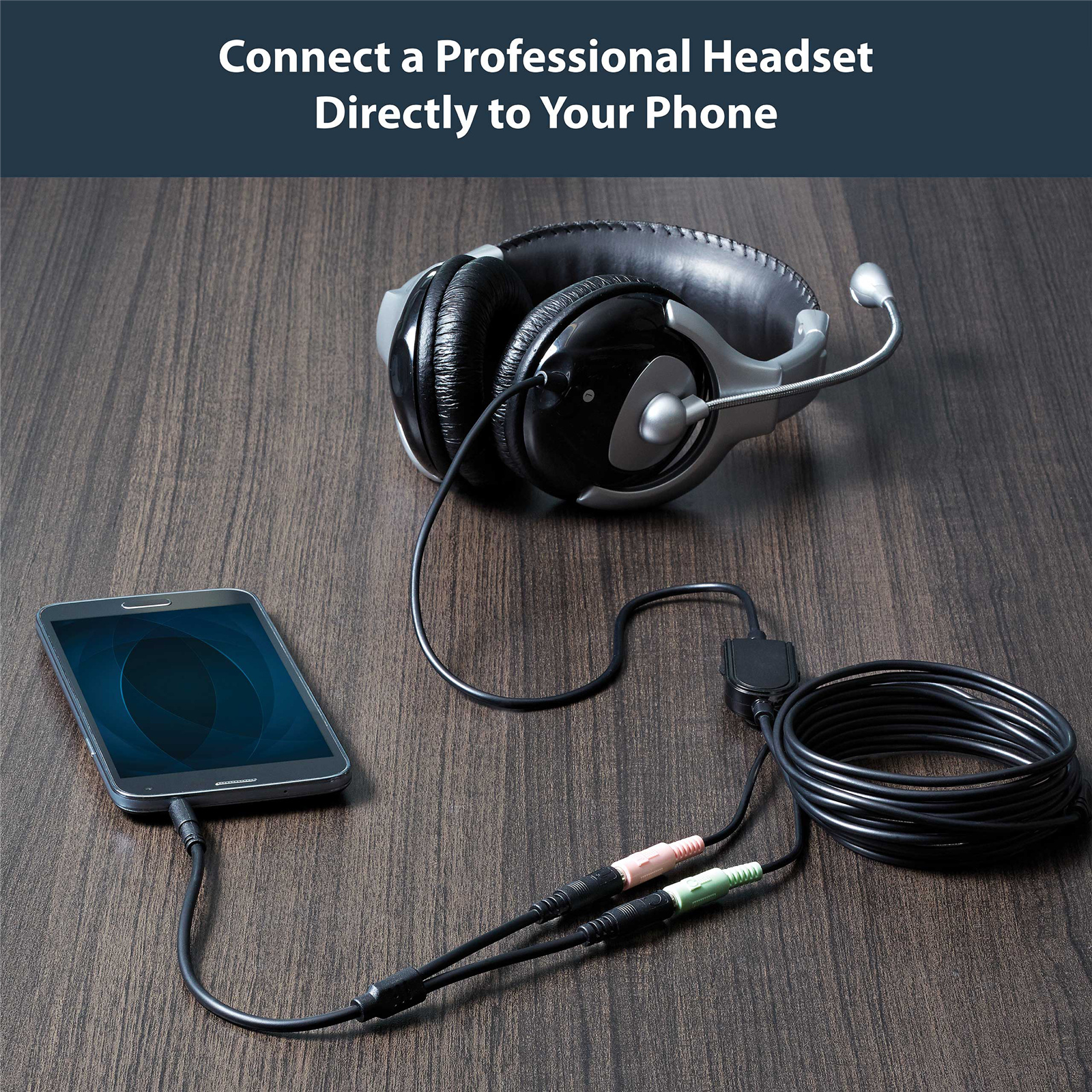 StarTech.com MUYHSMFF Headset adapter for headsets with separate headphone mic