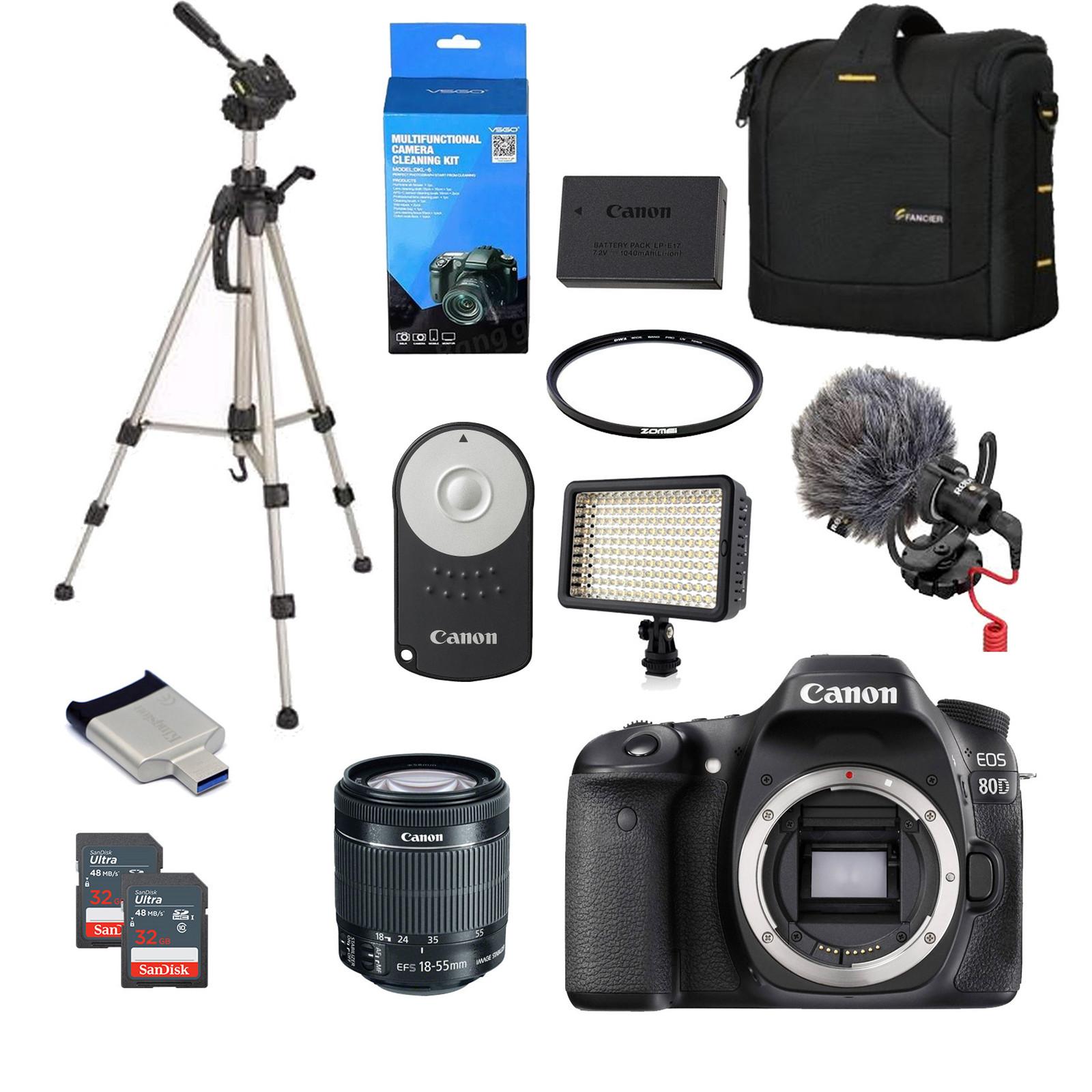 Buy the Canon EOS 800D DSLR Camera Super Bundle 18-55mm Lens