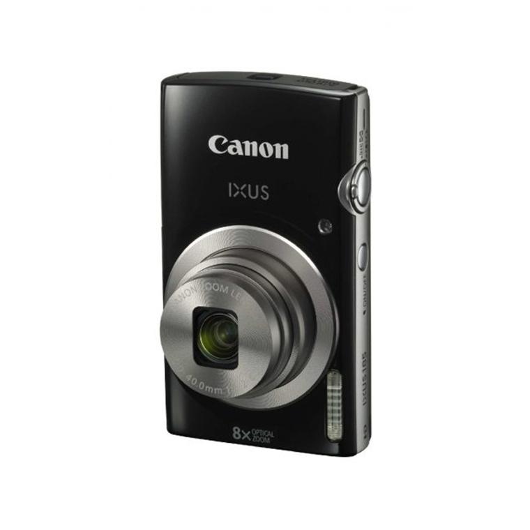 Canon IXUS 185 Digital Camera Black 20 Megapixel 8x Zoom Lens 27 Inch TFT Color LCD Video Recording HD 720p