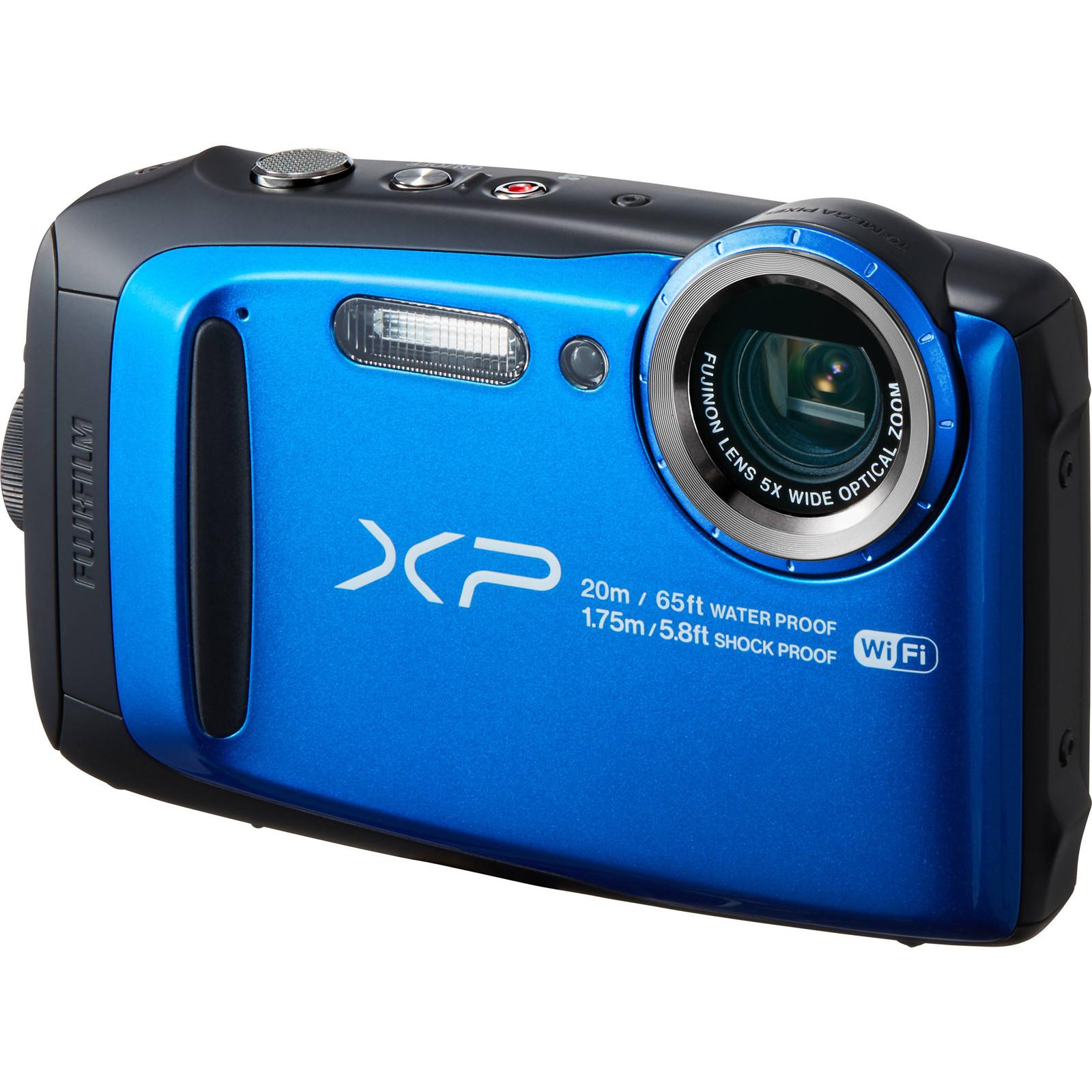 FujiFilm FinePix XP120 Digital Camera 164MP BSI CMOS Sensor Fujinon 5x Optical Zoom Lens Water Shock Freeze And Dustproof Blue
