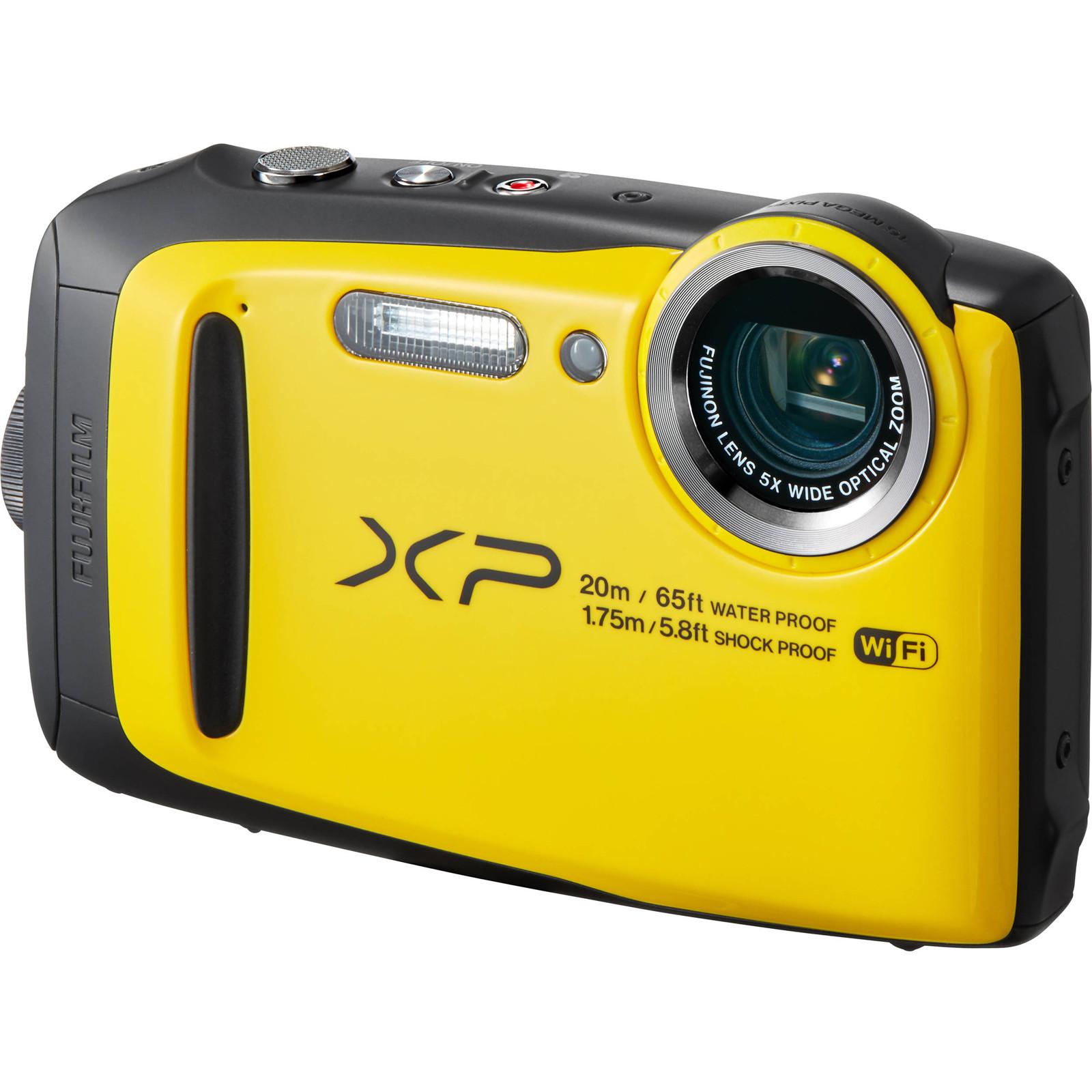 FujiFilm FinePix XP120 Digital Camera 164MP BSI CMOS Sensor Fujinon 5x Optical Zoom Lens Water Shock Freeze And Dustproof Yellow