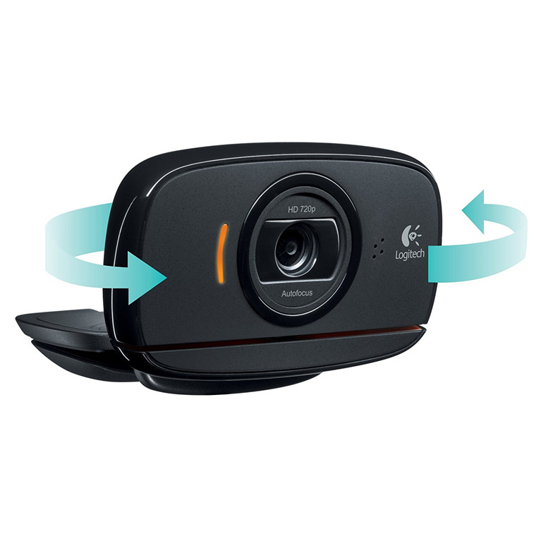 Buy the Logitech C525 HD Webcam Built-in Mic  HD 720p  8-megapixel photo   360    ( 960-000717 ) online