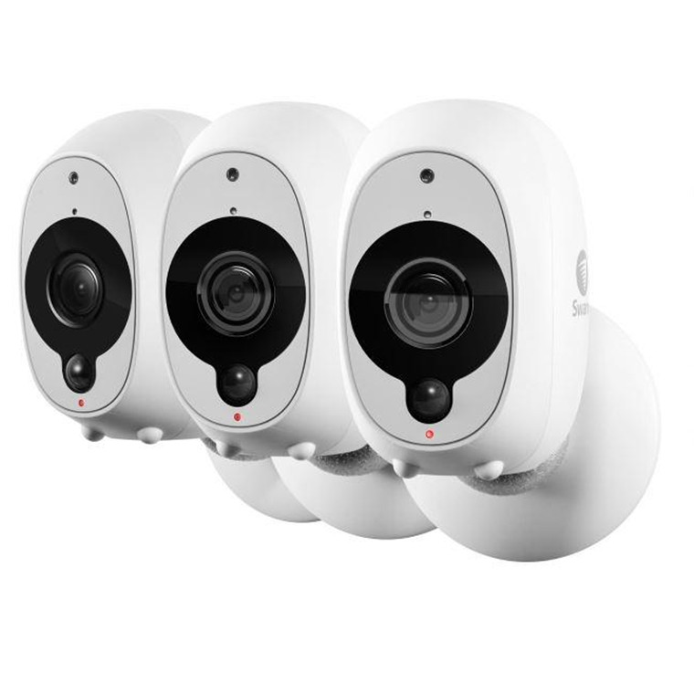 Buy the swann wire free smart security camera 3 pack 1080p re swann wire free smart security camera 3 pack 1080p re chargeable battery weatherproof dual band wireless thermal sensing microphone solutioingenieria Images