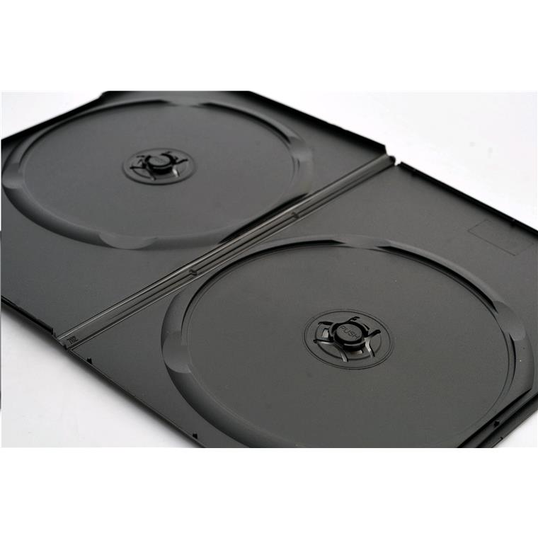 Imatech DVD Case Slim Double Black 7mm thick, 200pcs/carton