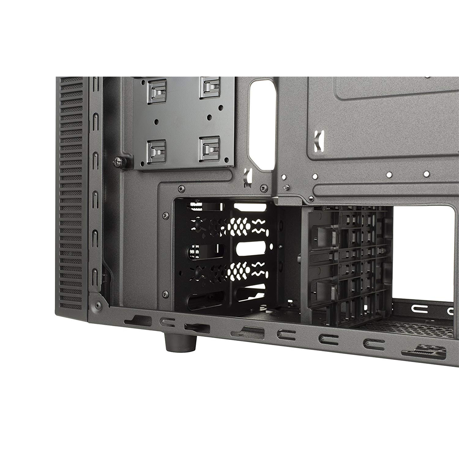 Cooler Master MasterBox E500L Mid Tower ATX Case Blue Metal Side Panel