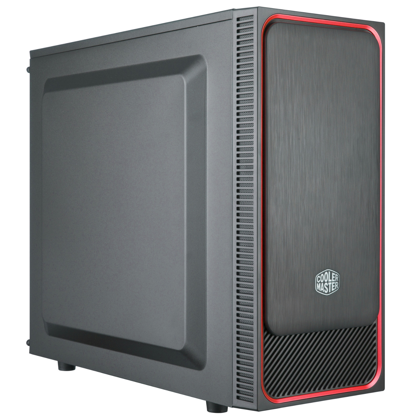 Cooler Master MasterBox E500L Mid Tower ATX Case Red Metal Side Panel