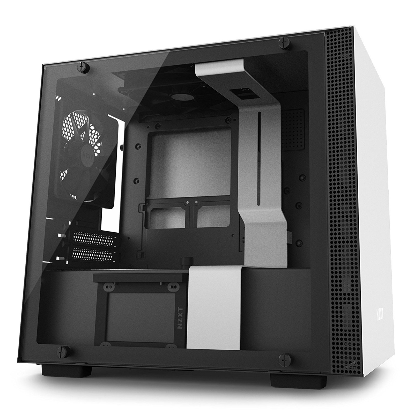 Buy The Nzxt H200i Premium Mini Itx Case Tempered Glass Build In Wiring 3 Pin Cpu Fan Zalman Free Download Diagrams Pictures Cam Rgb Lighting And Fans Matte White